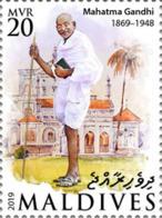 DELUXE IMPERF Maldives 2019 Mahatma Gandhi 150th Aniv 1v MLD190915a - Persönlichkeiten