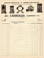 CARRIAUD  Menuiserie & Ebenisterie   SERMERIEU  Isère  Belle Illustration - 1900 – 1949