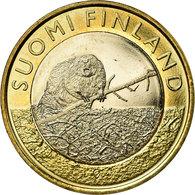 Finlande, 5 Euro, Le Castor En Satkunta, 2015, SUP, Bi-Metallic, KM:240 - Finlande
