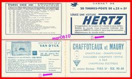 Couverture Vide De Carnet - Y&T N° 1263-C3 - Série 12-64 - Légère Déchirure, Voir Scan - Usage Courant