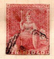 TRINITE & TOBAGO - (Colonie Britannique) - 1854 - N° 4 - 1 P. Rouge - (Victoria) - Trindad & Tobago (...-1961)