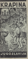 Neanderthal Man Krapina Croatia Old Prospect Brochure Rhino Rhinoceros - Dépliants Turistici