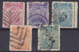 BOLIVIA 1893 Set Of 5v Used VF - Bolivia