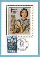 Carte Maximum 1968 - Jeanne D'Arc - Départ De Vaucouleurs - YT 1579 - 55 Vaucouleurs - Maximum Cards