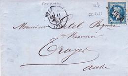 France LAC Losange GC 2451 Montereau 11/08/70 / YT  22f - Postmark Collection (Covers)