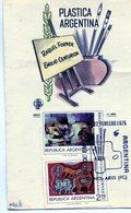 RAQUEL FORNER EMILIO CENTURION PLASTICA ARGENTINA 1975 TARJETA / CARD OBLITERATED FDC BUENOS AIRES - NTVG. - Otros