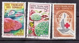 Cote Des Somalis 315 à 317 Oblitérés Used TB Cote 11.4 - Usados