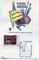 RAQUEL FORNER EMILIO CENTURION PLASTICA ARGENTINA 1975 TARJETA / CARD OBLITERATED BUENOS AIRES - NTVG. - Otros