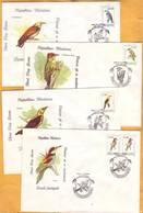 1993 Moldova Moldavie FDC  Fauna. Birds. - Specht- & Bartvögel