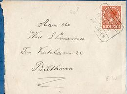Netherlands 1931 Spoor Blokstempel Leeuwarden Harlingen, 11.01.31 III,  6 Ct Veth Naar Bilthoven- 2006.1314 - Periode 1891-1948 (Wilhelmina)