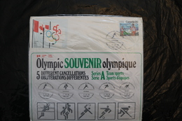 Canada Olympic Games Montreal 1976 Special Cancel Team Sports Five Basketall Hockey Footall Handball Etc A04s - Summer 1976: Montreal