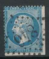 N°22 VARIETE MARQUEE AU VERSO. - 1862 Napoleone III