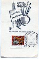 RAQUEL FORNER EMILIO CENTURION PLASTICA ARGENTINA 1975 TARJETA / CARD OBLITERATED BAHIA BLANCA - NTVG. - Otros