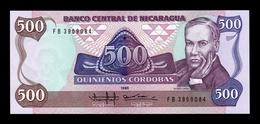 Nicaragua 500 Córdobas Ruben Dario 1985 Pick 155 SC UNC - Nicaragua