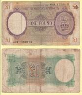 One Pound 1943 British Military Authority Occupazioni Militari Britanniche War Currency - Emissioni Militari