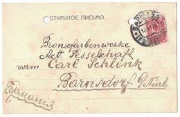 IZ191   Poland 1912 Postal Station Company J. Franaszek Warsaw For Barnstorf Germany - ....-1919 Governo Provvisiorio