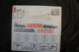 Canada Olympic Games Montreal 1976 Special Cancel Individual Sports Five Gym Weights Archery Shoot Etc A04s - Summer 1976: Montreal