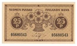 FINLAND25PENNIA1918P33UNC.CV. - Finlandia