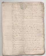 Touraine Montlouis 1783 De 22 Pages Dernière Page Sale - Manuscripts