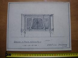 Planche Estampe MEUBLE MOBEL FURNITURE MOBILI Dressoir Marie Antoinette EHALT Strasbourg - Planches & Plans Techniques