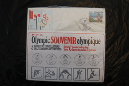 Canada Olympic Games Montreal 1976 Special Cancel Cycling Judo Wrestling Boxing Fencing A04s - Summer 1976: Montreal