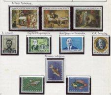 16811 VENEZUELA Collection Vendue Par Page PA 885/7, 888, 889, 890, 891/3, 894 *   1966  TB - Venezuela