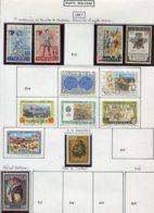16813 VENEZUELA Collection Vendue Par Page PA 895/904, 907, 908, 909 */ °/ **   1967   TB - Venezuela