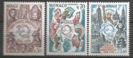 MONACO ANNEE 1974 N°953 A 955 NEUFS** MNH - Nuovi