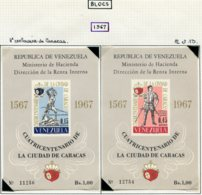 16814 VENEZUELA Collection Vendue Par Page BF 12/ 3 *  4è. Centenaire De Caracas    1967   TB - Venezuela