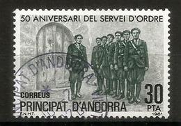 La Policía Andorrana, Creada En 1931, Sello Usado, Primera Calidad - Andorre Espagnol