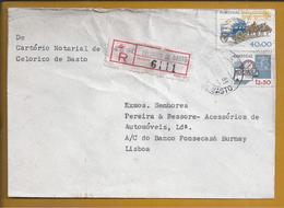 Carta Registada De Celorico De Basto. Carro Puchado Por Animais. Bússola. Radar. Rádio. Compass. - Covers & Documents