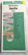 Carte Routière  AUSTIN Texas 1988 Rand Mc Nally Map - Cartes Routières