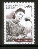 Victoria Zorzano - ''Aqui Radio Andorra'' ! La Première Speakerine De Radio-Andorre 1939. Neuf ** 2020 - Französisch Andorra