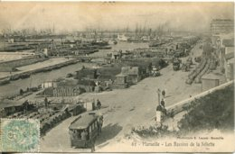 CPA -  MARSEILLE - LES BASSINS DE LA JOLIETTE (IMPECCABLE) - Joliette, Zone Portuaire