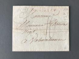 France Lettre 1786 - Griffe MONTEREAU Rouge - Taxe 10 - (B3071) - Marcophilie (Lettres)