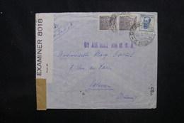 BRÉSIL - Enveloppe De S. Paulo Pour La France En 1942 Avec Contrôle Postal, Affranchissement Plaisant - L 53055 - Briefe U. Dokumente