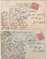 2 CP 10c Semeuse O. Cad Exposition Coloniale Marseille 1906 - 1877-1920: Semi Modern Period