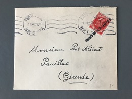 France N°506 Seul Sur Lettre + Griffe Seine-et-Marne - (B3073) - 1921-1960: Période Moderne