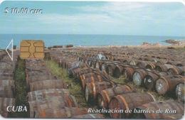 Télécarte Puce CUBA : Reactivación De Barriles De Ron - Cuba