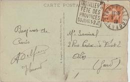 CP 25c Semeuse O. Daguin Trouville Fête Des Provinces Calvados 1926 - Marcophilie (Lettres)