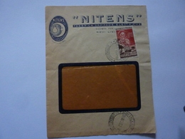 "Busta Pubblicitaria Viaggiata ""NITENS - FABBRICA LAMPADE ELETTRICHE, NOVI LIGURE"" 1955 - 1946-.. Republiek"