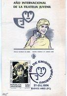 AÑO INTERNACIONAL DE LA FILATELIA JUVENIL DIA DE EMISION 1974 BUENOS AIRES - NTVG. - Otros