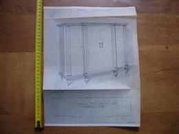 Planche Estampe MEUBLE MOBEL FURNITURE MOBILI Armoire - Planches & Plans Techniques