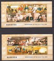 Barbuda 2 MNH Sheetlets - Us Independence