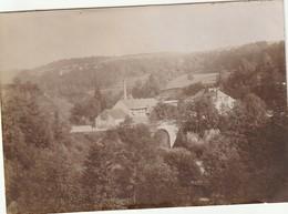 Photo Vers 1900 CLAIRVAUX-DU-JURA (les-Lacs) - Une Vue, Viaduc, Usine Jaillot (A219, Ww1, Wk 1) - Autres Communes