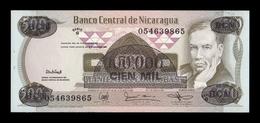 Nicaragua 100000 Córdobas Rubén Darío L. 1985 (1987) Pick 149 SC UNC - Nicaragua