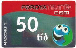 Faroe - Smiling Face, 50Kr. GSM Refill, Exp. 01.03.2006, Used - Faroe Islands