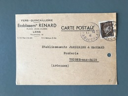France N°512 Seul Sur Carte Postale Repiquée 1941 - (B3081) - 1921-1960: Période Moderne