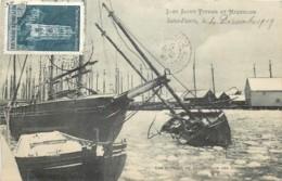 France - Saint-Pierre Et Miquelon - Les Bateaux De Pêche Dans Les Glaces En Hiver - Saint-Pierre-et-Miquelon