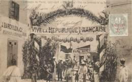 Maroc - Campagne Du Maroc 1907-1908 - Casablanca - Une Rue Pavoisée Le 14 Juillet - Casablanca